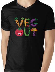 Veg Out - dark colors Mens V-Neck T-Shirt