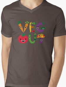 Veg Out - dark colors Mens V-Neck T-Shirt