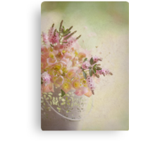 Flower bucket Canvas Print