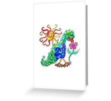 HE SPEAKS WITH FORK TONGUE Greeting Card