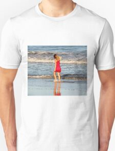 Little Girl On The Beach Unisex T-Shirt