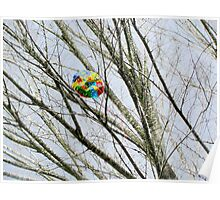 Balloon in Tree Poster
