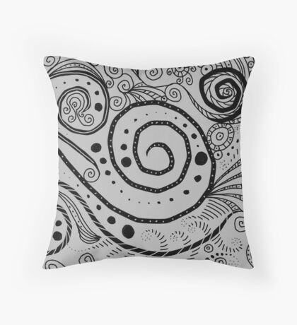 Swirls 2 Throw Pillow