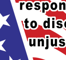 """Martin Luther King Jr. """"Disobey Unjust Laws"""" Sticker"""