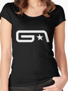 Groove Armada White Logo Women's Fitted Scoop T-Shirt