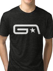 Groove Armada White Logo Tri-blend T-Shirt