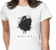 a bad hair day... that's all... Womens Fitted T-Shirt