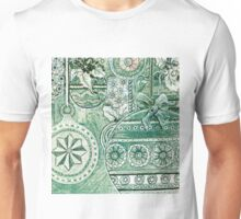 Xmas Baubles 7 -  Gelli Plate Print and Ink Unisex T-Shirt