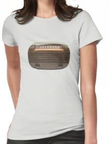 old time bubble  radio  Womens Fitted T-Shirt