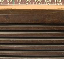old time bubble  radio  Sticker