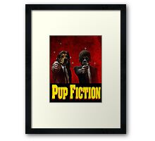 Pup Fiction Framed Print