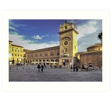 Piazza delle Erbe - Mantova Art Print