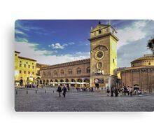 Piazza delle Erbe - Mantova Canvas Print