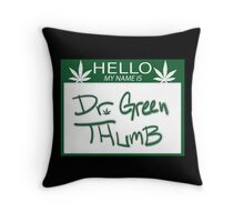 Dr. Green Thumb Throw Pillow