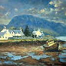 Plockton, Scotland at LowTide by marshstudio