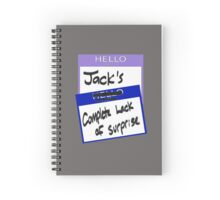 "Fight Club: ""I AM JACK'S COMPLETE LACK OF SURPRISE"" Spiral Notebook"