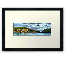 Deception Pass Bridge Panorama Framed Print