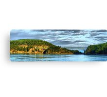 Deception Pass Bridge Panorama Canvas Print