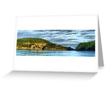 Deception Pass Bridge Panorama Greeting Card