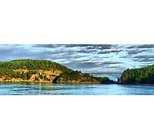 Deception Pass Bridge Panorama Photographic Print