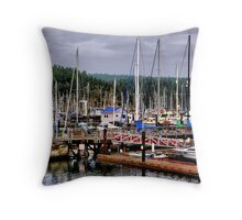 Parking in Paradise Throw Pillow