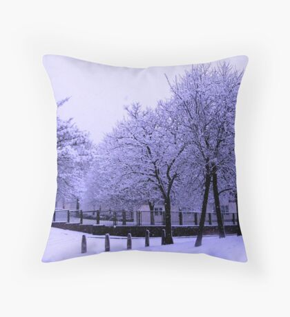 SNOW TREES Throw Pillow