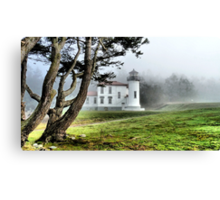 Lighthouse in the Fog Two Canvas Print