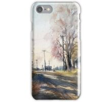Autumn light in country. Russia iPhone Case/Skin