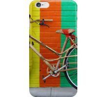 Bicycle Against Colorful Wall iPhone Case/Skin