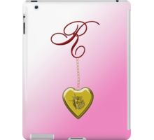 R Golden Heart Locket iPad Case/Skin