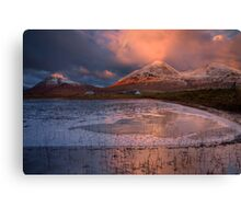The Red Hills in Winter Light. Isle of Skye, Scotland. Canvas Print