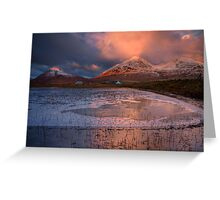 The Red Hills in Winter Light. Isle of Skye, Scotland. Greeting Card