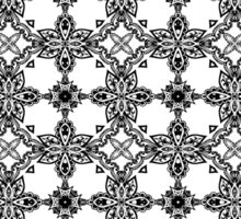 Black and white pattern Sticker