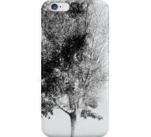 White Faded Tree iPhone Case/Skin