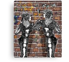 Graffiti Hearts [Digital Figure Illustration] Canvas Print