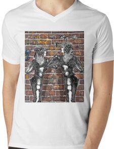 Graffiti Hearts [Digital Figure Illustration] Mens V-Neck T-Shirt