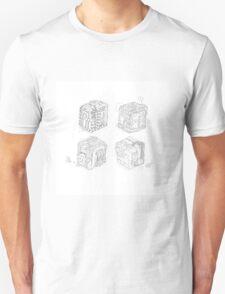 Boxed Mimes (No Color) Unisex T-Shirt