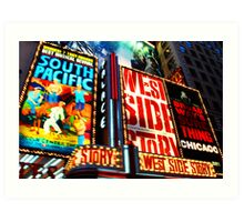 Broadway, New York marque Art Print