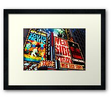 Broadway, New York marque Framed Print