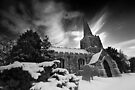 St. Catherine's in the Snow BW by Andy Freer