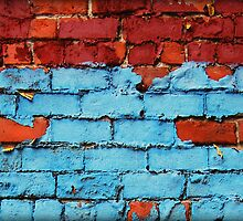 Red Brick Blue Paint 2 by francierose