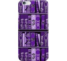 Purple Book Shelves Vintage Books Pattern iPhone Case/Skin