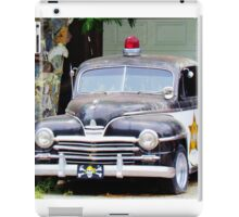 Vintage Police Car iPad Case/Skin