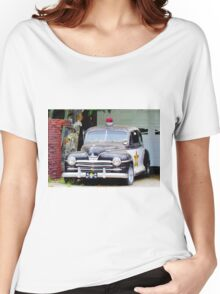 Vintage Police Car Women's Relaxed Fit T-Shirt