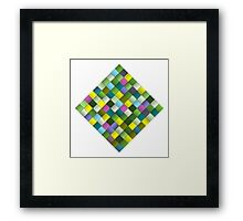 Colourful woven ribbon pattern Framed Print