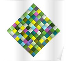 Colourful woven ribbon pattern Poster