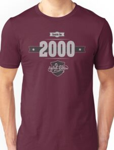 Born in 2000 (Light&Darkgrey) Unisex T-Shirt