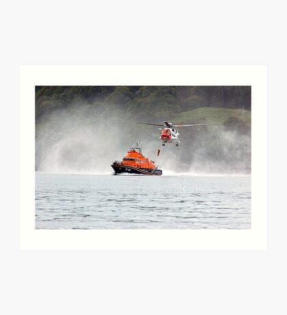 Tobermory Lifeboat Demonstration Art Print