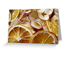 Dried oranges and apples Greeting Card