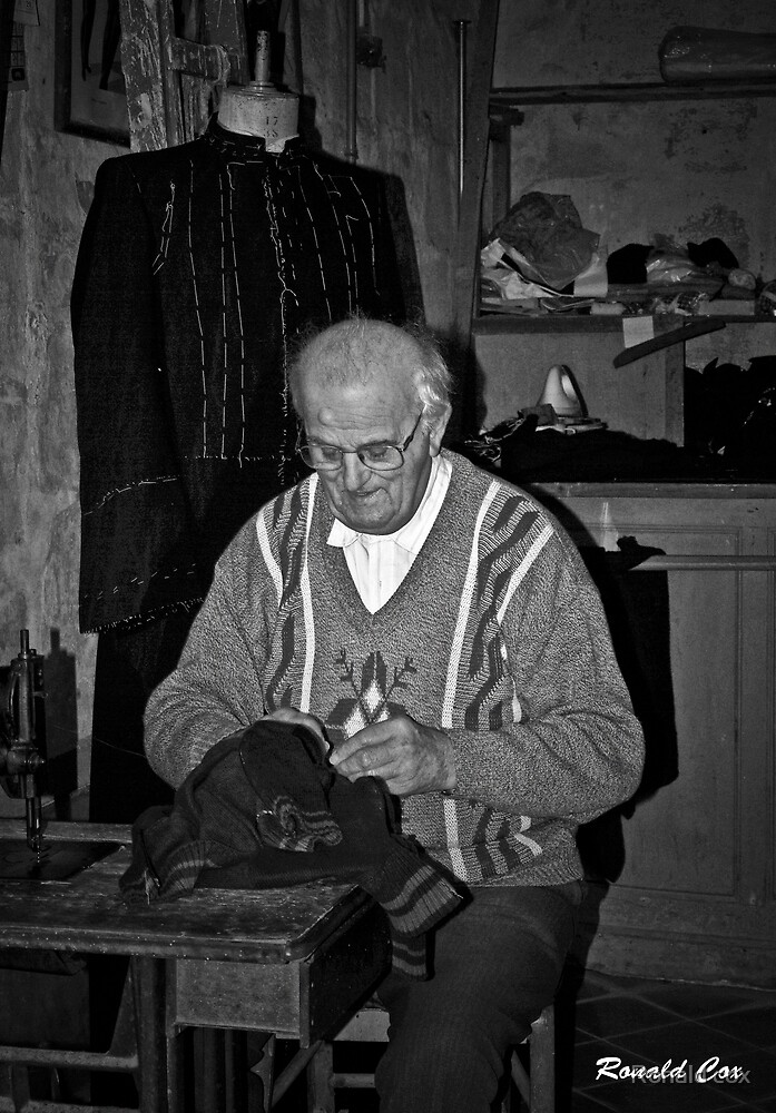 The old Tailor by Ronald cox